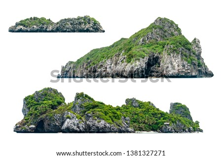 Collection of beautiful Island isolated on white background #1381327271