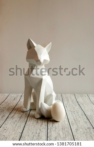 Abstract fox figure . Polygonal art. Abstract backtop. Web design background.