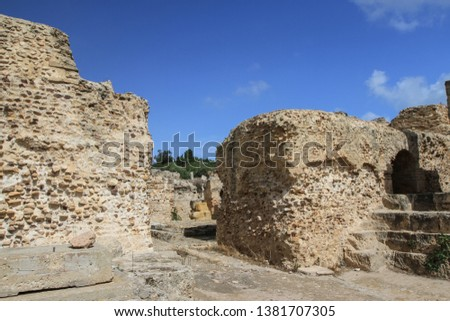 ruins of an ancient city in Tunisia #1381707305