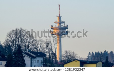 View of the radio station in Ansfelden Upper Austria #1381932347