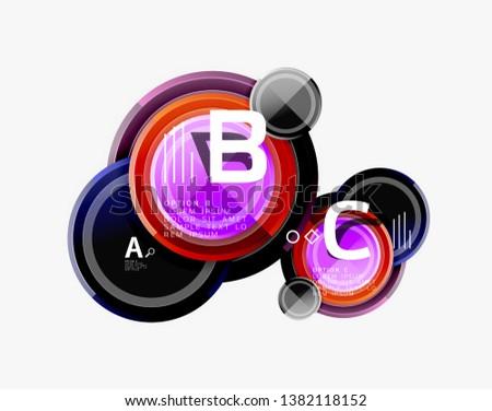 Circular pattern, abstract circles composition. Vector design #1382118152