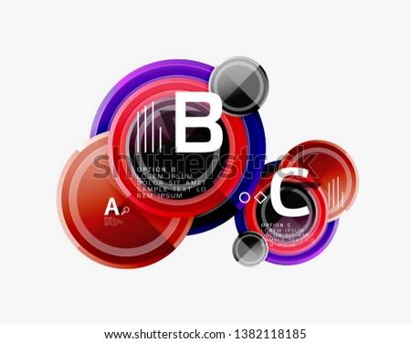 Circular pattern, abstract circles composition. Vector design #1382118185