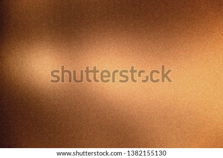 Glowing bronze rough metal wall, abstract texture background #1382155130