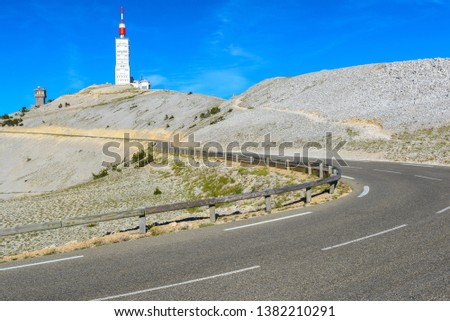 Road to Mount Ventoux, Provence, France #1382210291