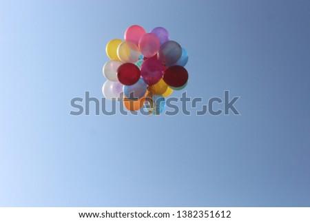 Collorful Ballons on the Sky #1382351612