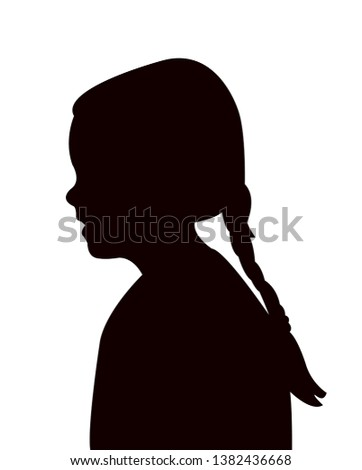 a girl head silhouette vector #1382436668
