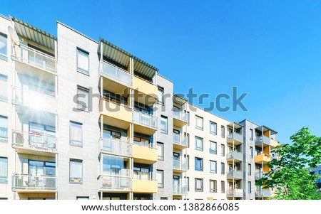 Complex of new apartment residential building with outdoor facilities. #1382866085