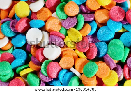 Multicolor sprinkles macro background photo #138314783