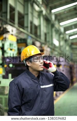 Industrial engineer on the phone #138319682