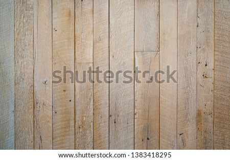 Light bleached reclaimed wood surface with aged boards. Wooden planks with grain and texture. Neutral flat vintage wood background. #1383418295