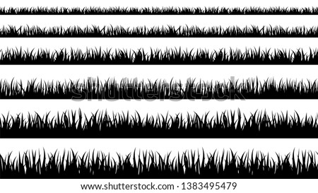 Grass silhouette. Turf coating banners for edging and overlays.