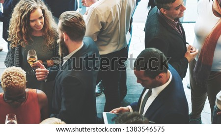 Diverse business people at a dinner party #1383546575