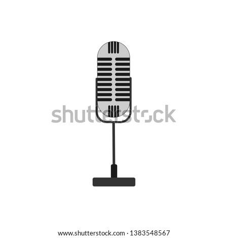 retro style desktop microphone icon #1383548567