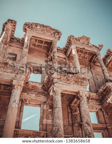 Ancient Ephesus which is in UNESCO world heritage list and now silted harbour, Selcuk, Izmir, Turkey #1383658658