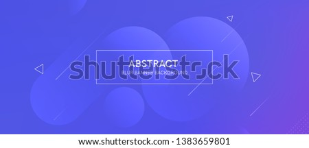 Abstract banner with gradient shapes and blur background with dark neon color. Dynamic shape composition. Vector template design  #1383659801