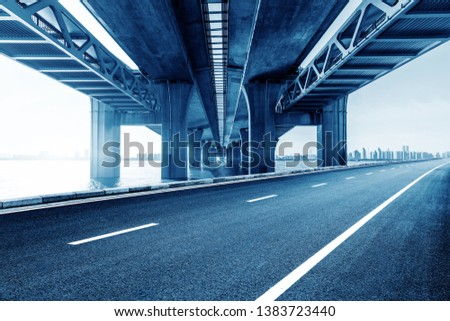 Roads and bridges, three-dimensional traffic in modern cities. #1383723440