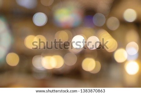 Bokeh in the mall as an abstract background. Texture #1383870863