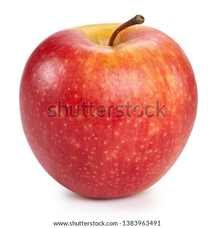 Red apples isolated on white background. Ripe fresh apples Clipping Path #1383963491