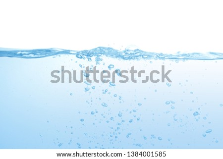 water splash isolated on white background,water  #1384001585