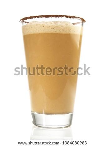 Coffee Milkshake on white Background #1384080983