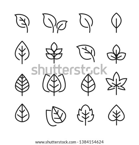 leafs pack black and white set icons #1384154624
