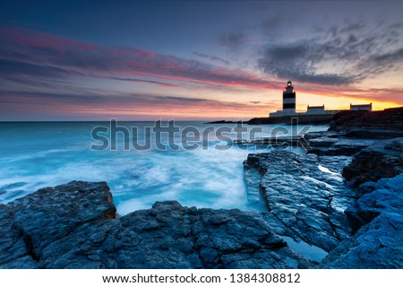 Lighthouse at Hook Head, County Wexford, Ireland Lighthouse at Hook Head, County Wexford, Ireland #1384308812