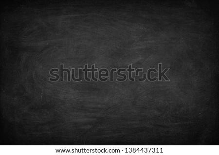 Abstract Chalk rubbed out on blackboard or chalkboard texture. clean school board for background or copy space for add text message. Backdrop of Education concepts. #1384437311