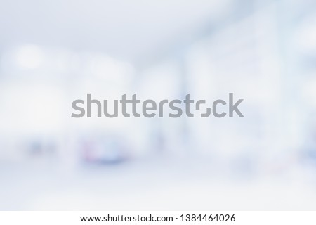 BLURRED OFFICE BACKGROUND, MODERN BUSINESS INTERIOR HALL