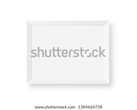 White realistic picture frame - stock vector. #1384664738