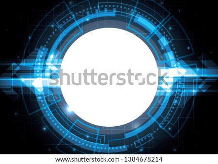 technology circle abstract background vector illustration #1384678214