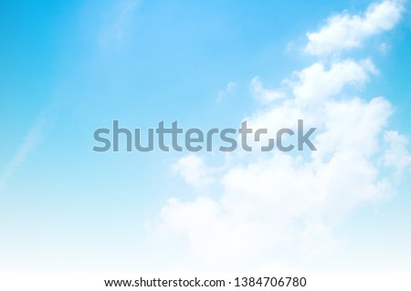 blue sky with white cloud #1384706780