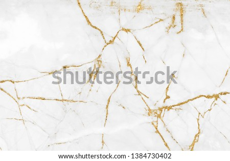 White gold marble texture pattern background with high resolution design for cover book or brochure, poster, wallpaper background or realistic business #1384730402