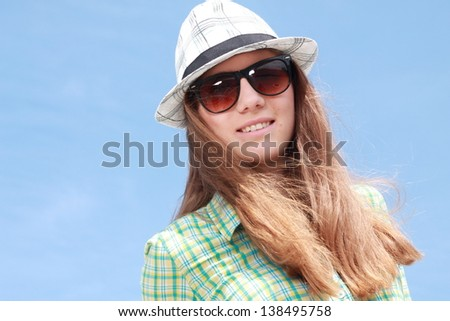Summer urban fashion. Beautiful young model in stylish clothes. #138495758