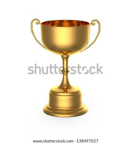 Gold trophy #138497027