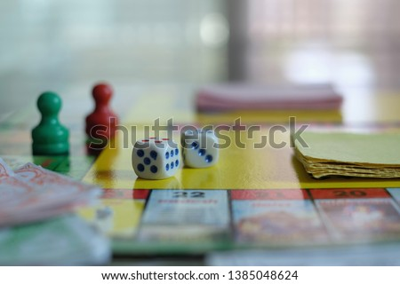 dice on paper board game #1385048624