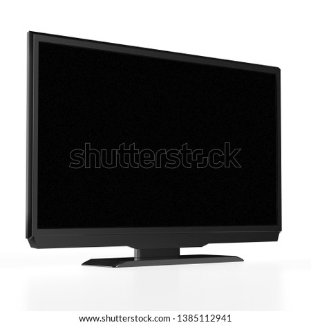LED LCD tv isolated on white background. 3D rendering #1385112941