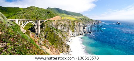 Bixby Bridge, the most photographed bridge on the Pacific Coast. #138513578
