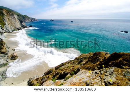 A Beautiful View of the California Coastline along State Road 1. #138513683