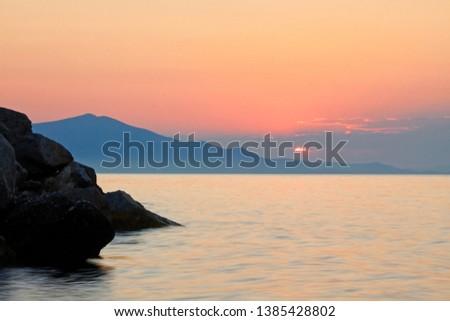 Greece. Sunset on the island of Evia. - Image  #1385428802