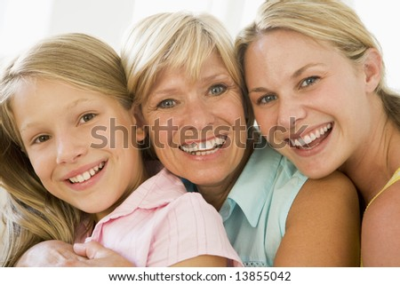 Grandmother with adult daughter and granddaughter #13855042