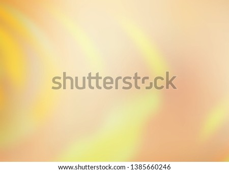 Light Yellow, Orange vector glossy abstract template. Glitter abstract illustration with an elegant design. A completely new design for your business. #1385660246