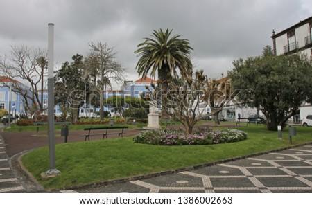 Landscape of Ponta Delgada, Sao Miguel Island, Azores, Portugal #1386002663