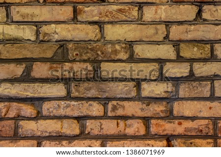 The sample of brick wall texture background #1386071969