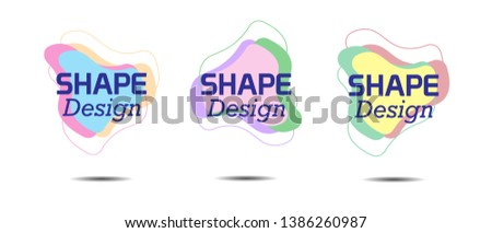 creative abstract shape vector frame background design eps10 #1386260987