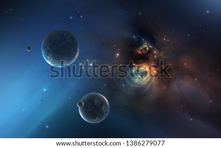 Galaxy in deep space universe #1386279077