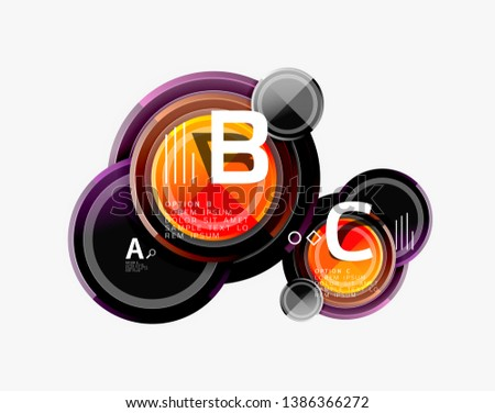 Colorful glossy circles background. Vector #1386366272