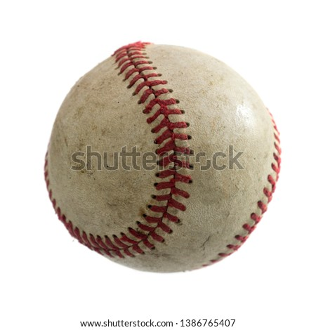 baseball ball on white background. #1386765407
