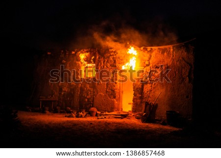 country house set on fire #1386857468