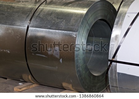 Rolls of cold-rolled galvanized steel in stock, Russia #1386860864