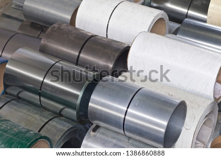Rolls of cold-rolled galvanized steel in stock, Russia #1386860888